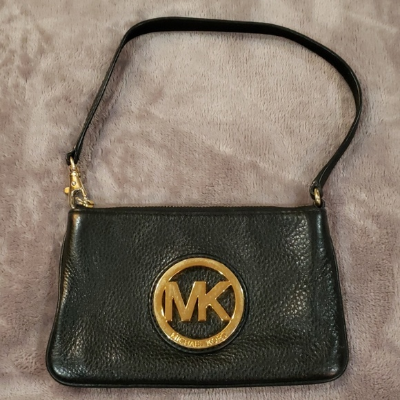 Michael Kors Other - Michael Kors Black Leather Wristlet